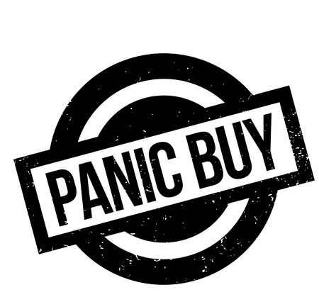 loot: Panic Buy rubber stamp. Grunge design with dust scratches. Effects can be easily removed for a clean, crisp look. Color is easily changed. Illustration