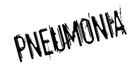 inflamed: Pneumonia rubber stamp. Grunge design with dust scratches. Effects can be easily removed for a clean, crisp look. Color is easily changed. Illustration