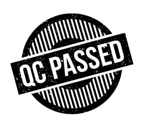 qc: Qc Passed rubber stamp. Grunge design with dust scratches. Effects can be easily removed for a clean, crisp look. Color is easily changed. Illustration