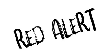 hazard sign: Red Alert rubber stamp. Grunge design with dust scratches. Effects can be easily removed for a clean, crisp look. Color is easily changed.