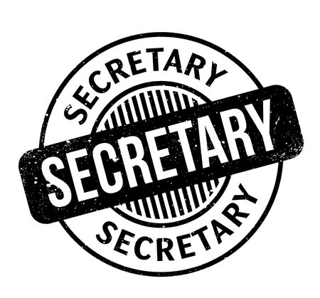 Secretary rubber stamp. Grunge design with dust scratches. Effects can be easily removed for a clean, crisp look. Color is easily changed. Illustration