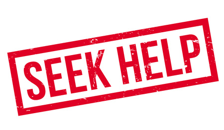 seeking assistance: Seek Help rubber stamp Illustration