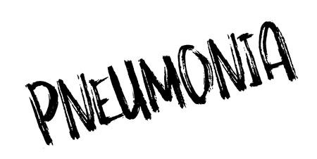 Pneumonia rubber stamp Illustration