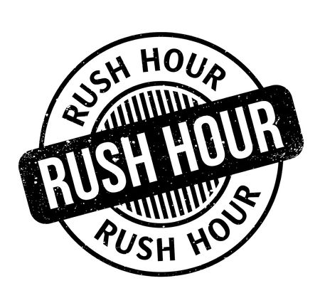 Rush Hour rubber stamp Imagens - 82454256