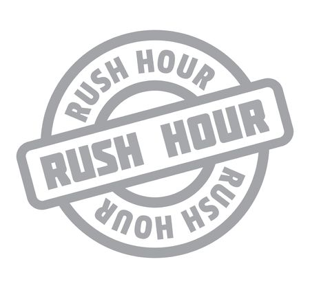 hectic: Rush Hour rubber stamp