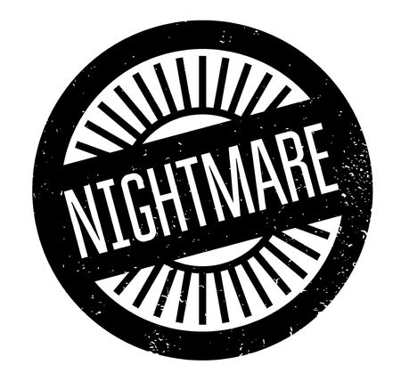 Nightmare rubber stamp