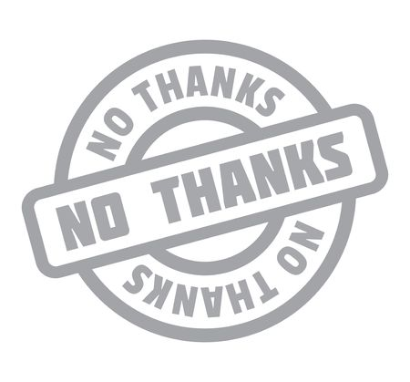 No Thanks rubber stamp 向量圖像