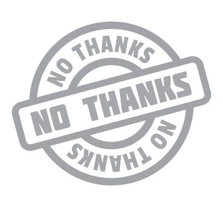 No Thanks rubber stamp Illustration