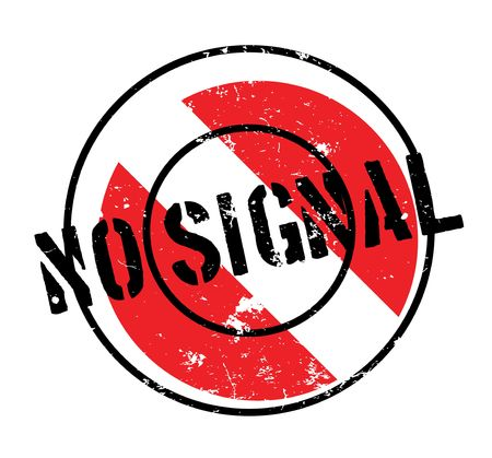 wireless signal: No Signal rubber stamp Illustration