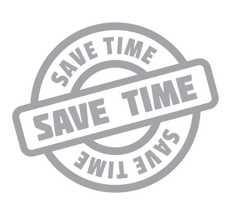 duration: Save Time rubber stamp. Grunge design with dust scratches. Effects can be easily removed for a clean, crisp look. Color is easily changed. Illustration
