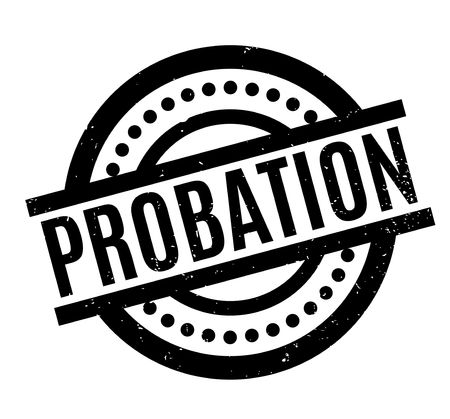 apprenticeship: Probation rubber stamp. Grunge design with dust scratches. Effects can be easily removed for a clean, crisp look. Color is easily changed.