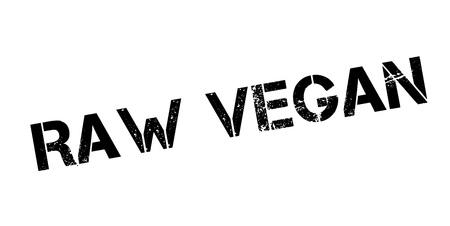 Ruwe veganistische rubberstempel. Grungeontwerp met stofkrassen. Effecten kunnen eenvoudig worden verwijderd voor een schone, heldere look. Kleur is gemakkelijk te veranderen.
