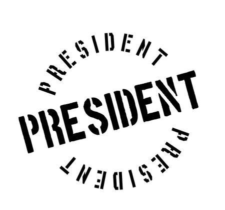 postmark: President rubber stamp. Grunge design with dust scratches. Effects can be easily removed for a clean, crisp look. Color is easily changed.