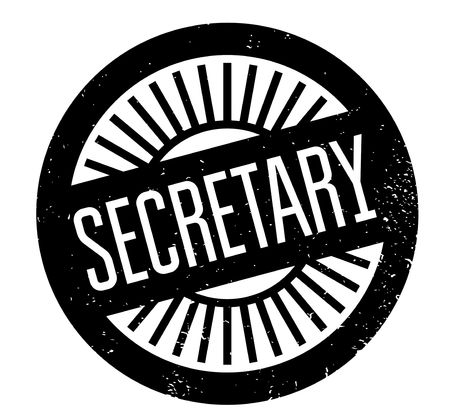 Secretary rubber stamp. Grunge design with dust scratches. Effects can be easily removed for a clean, crisp look. Color is easily changed. 일러스트