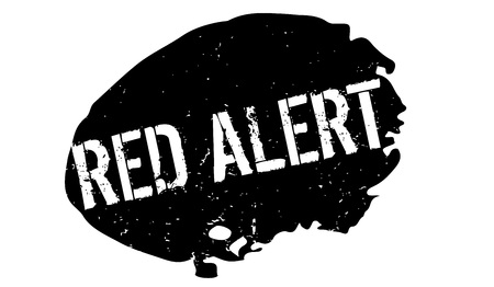 Red Alert rubber stamp. Grunge design with dust scratches. Effects can be easily removed for a clean, crisp look. Color is easily changed.