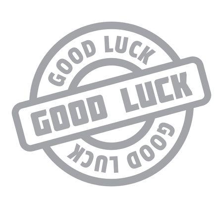 fluke: Good Luck rubber stamp