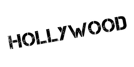 celebrities: Hollywood rubber stamp Stock Photo