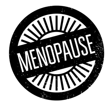 Menopause rubber stamp Stock Photo