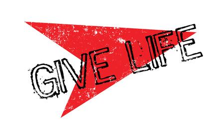 Geef de rubberzegel van het leven Stockfoto - 82492644