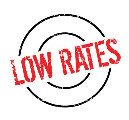 rate: Low Rates rubber stamp