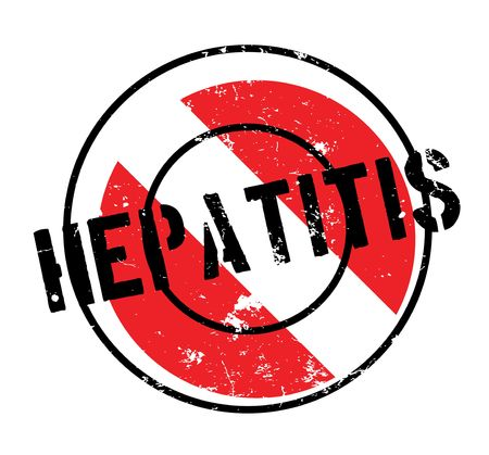 Hepatitis rubber stamp Imagens