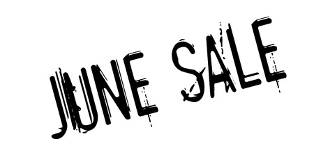 June Sale rubber stamp