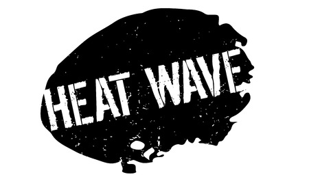 Heat Wave rubber stamp Stok Fotoğraf - 82512943