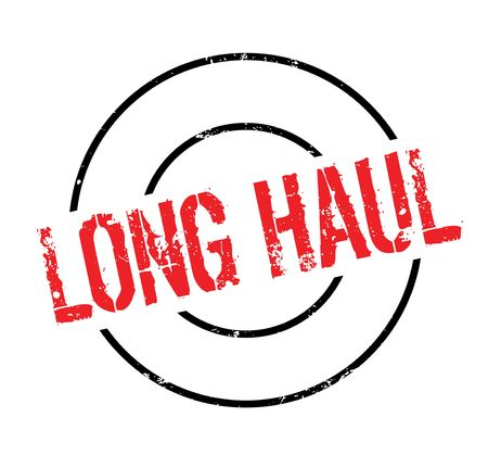 be: Long Haul rubber stamp. Grunge design with dust scratches. Effects can be easily removed for a clean, crisp look. Illustration