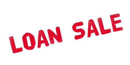 Loan Sale rubber stamp. Grunge design with dust scratches. Effects can be easily removed for a clean, crisp look.