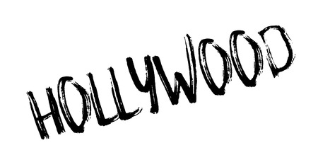 Hollywood rubber stamp. Grunge design with dust scratches. Effects can be easily removed for a clean, crisp look.