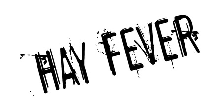 Hay Fever rubber stamp. Grunge design with dust scratches. Effects can be easily removed for a clean, crisp look.