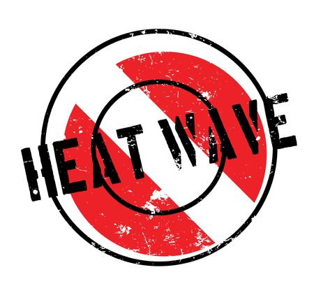 Heat Wave rubber stamp. Grunge design with dust scratches. Effects can be easily removed for a clean, crisp look. Ilustrace