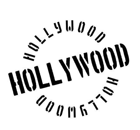 celebrities: Hollywood rubber stamp Illustration