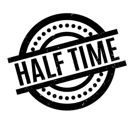 Half Time rubber stamp. Grunge design with dust scratches. Effects can be easily removed for a clean, crisp look. Color is easily changed.