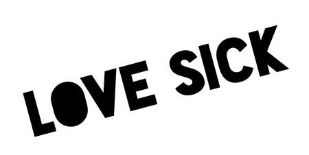 Love Sick rubber stamp