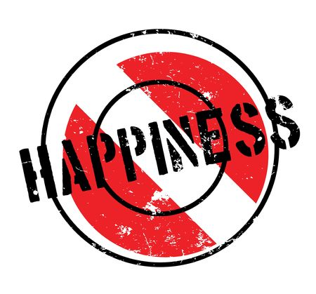 Happiness rubber stamp Stock Photo