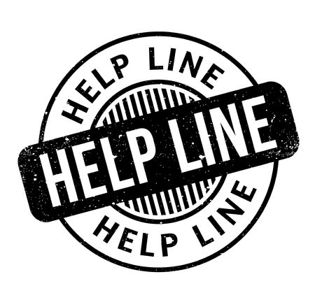 Help Line rubber stamp