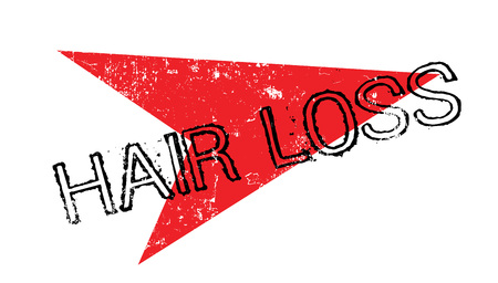 hairline: Hair Loss rubber stamp