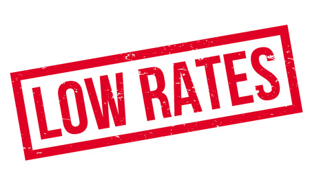 appraise: Low Rates rubber stamp