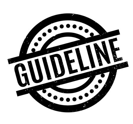 guideline: Guideline rubber stamp