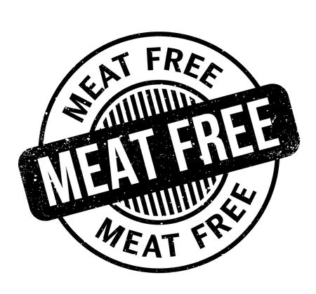veg: Meat Free rubber stamp