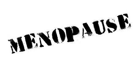 Menopause rubber stamp Çizim