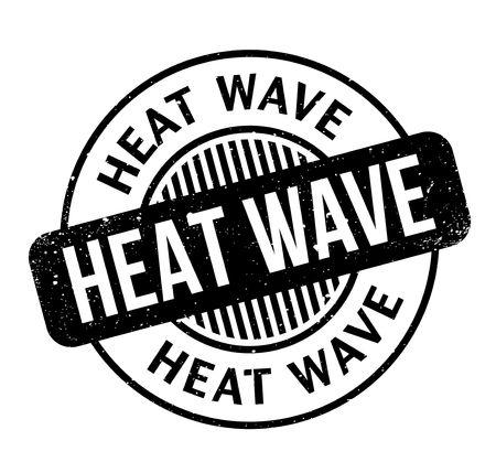 Heat Wave rubber stamp, grunge design Illustration