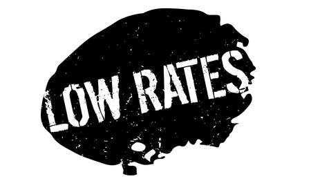 appraise: Low Rates rubber stamp grunge design Illustration