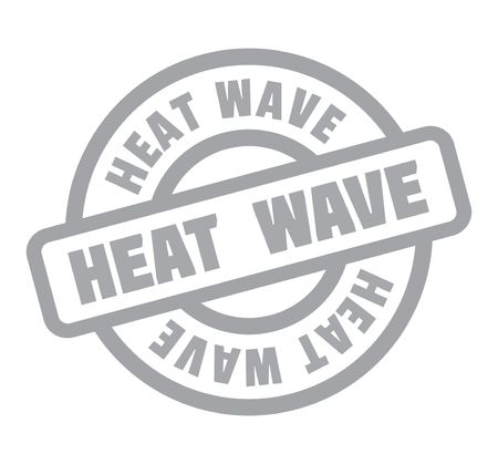Heat Wave rubber stamp gray text color grunge design Ilustrace