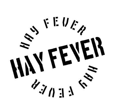 Hay Fever rubber stamp