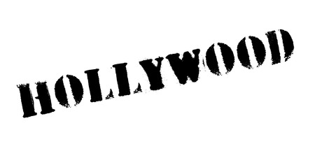 A Hollywood text rubber stamp grunge design