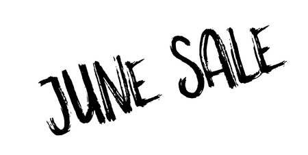June Sale rubber stamp grungy design