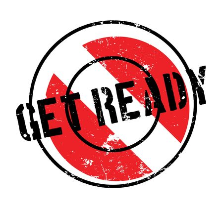 Get Ready rubber stamp grungy design Illustration