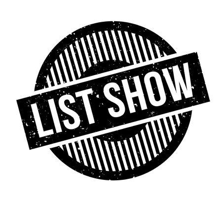 validation: List Show rubber stamp grungy design
